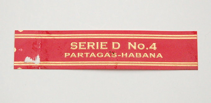 Partagas Serie D No. 4 Cigar Band